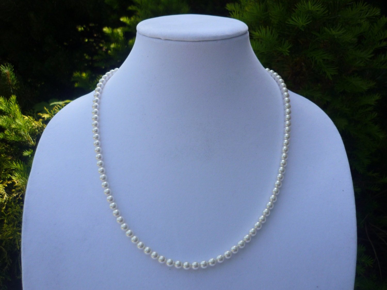pearl necklace 22 inch white pearl necklace by shannonstifel