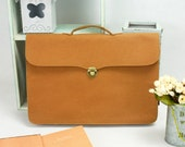 Briefcase Business Bag File Bag Kraft Paper & Felt can Hold 15'' Macbook Pro / Air 15'' Macbook Pro Case Macbook Bag KE1365