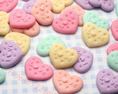 Heart Love Candy Cabochon 26mm (5pcs) Cell phone Deco Phone Case DIY Fake Sweets Jewelry Scrapbooking CA098