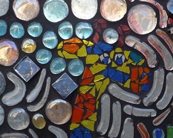 Glass Mosaic Giraffe Window Panel