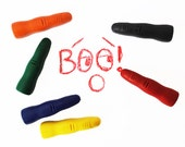 Finger crayons, spooky halloween gift, set of 6 crayon, non-toxic gift