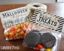Personalized Halloween Treat Topper - Vintage - PDF