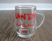 Marshall Field's Christmas Mug w/ Santa 1981 Collectible