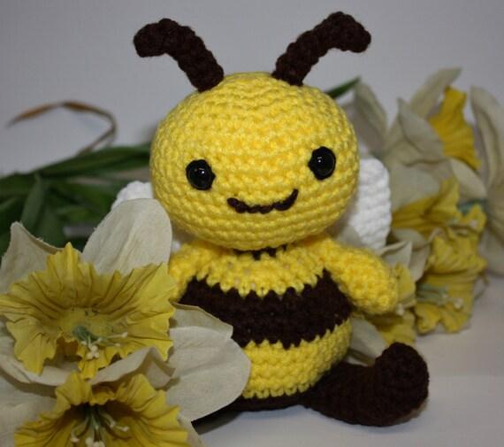 Amigurumi Bee Girl : Honey the Bee Handmade Crochet Amigurumi by anniekscreations