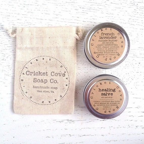 Healing Balm Set - Cuticle Butter - Healing Salve - Gift Set