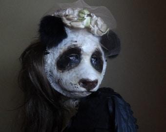 Halloween costume animal head mask panda bear mask panda costume