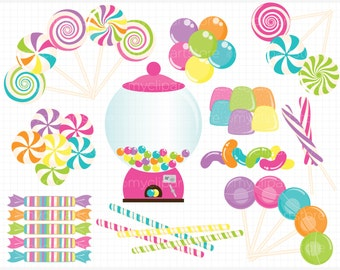 Clipart - Candy land / Sweets - Digital Clip Art (Instant Download)