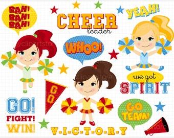 Cheerleader clip art | Etsy