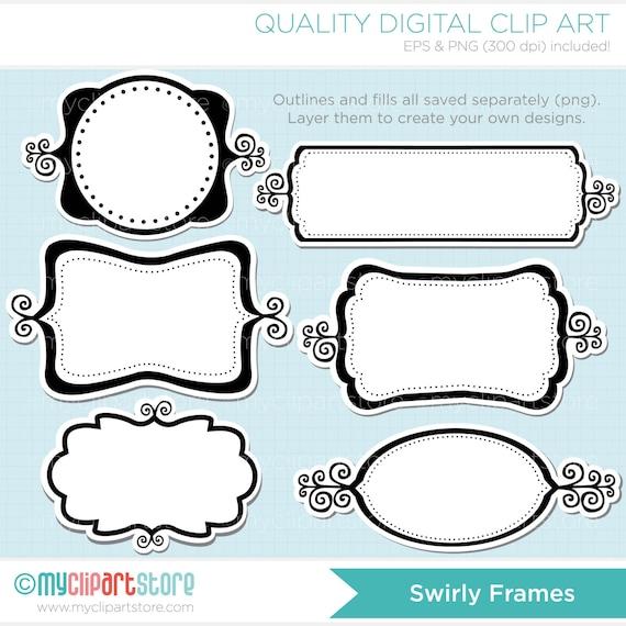 Frames Swirly Whirly Frame Clipart Shabby Chic Photo