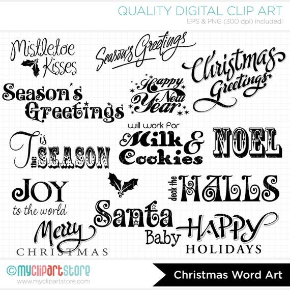 word clip art christmas - photo #17
