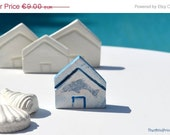 CIJ Sale Miniature nautical clay house with dolphin, summer home decoration - TheAtticPrincess