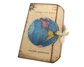 Wedding Guestbook, Travel Journal, Destination Wedding, Atlas Map Guestbook, Travel Themed Bridal Shower Guest Book