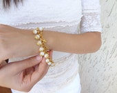White Gold Bracelet-Wedding Bracelet