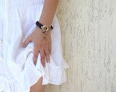 Tiger eye brown silk, silver-plated bracelet-Kentucky derby Bracelet-Feminine, Handmade, OOAK, Christmas,