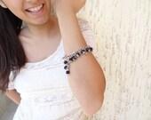 Black Onyx, Bracelet, Silver  Bracelet, Gothic Bracelet, Onyx in Black Bracelet, Christmas Gift
