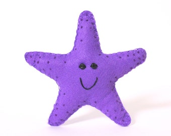 Felt Toy Plushie Hand sewing Pattern PDF. Complete instructions to make Twinkle the Starfish. Instant download.