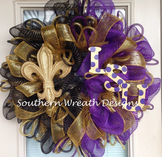 Items Similar To Lsu Tigers New Orleans Saints Door
