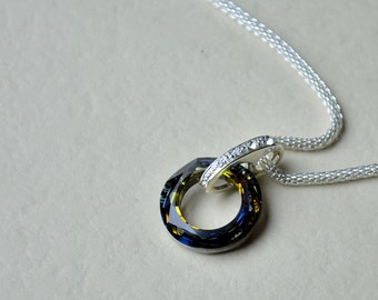 Swarovski cosmic ring necklace (N10017)