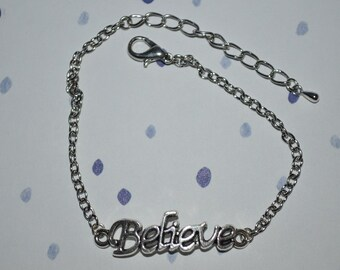 Believe Dainty Bracelet