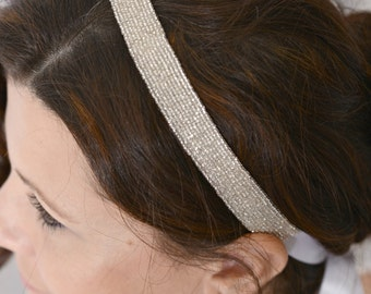 LULU Beaded Bridal Ribbon Headband