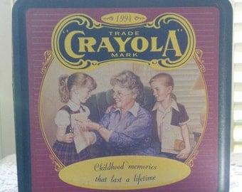 Vintage 1990's Crayola Crayons Tin