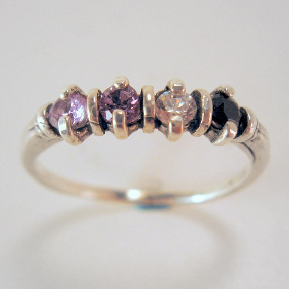 4 stone mother 39 s ring choose your stones size by. Black Bedroom Furniture Sets. Home Design Ideas