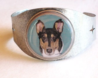 smooth collie original wearable art bracelet