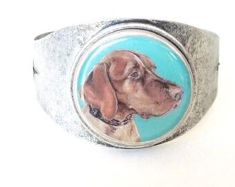 Vizsla wearable art cuff bracelet