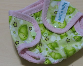 SALE Newborn Cloth Diaper Cover - fits 6-12lbs.  Stitched Garden