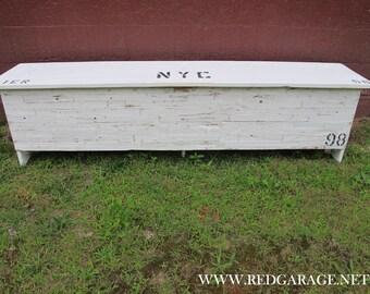 Reclaimed Wood, Painted, Storage Bench / Beach Locker, Large