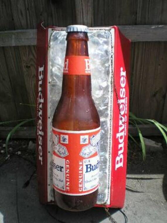 Large Budweiser Pool Table Light