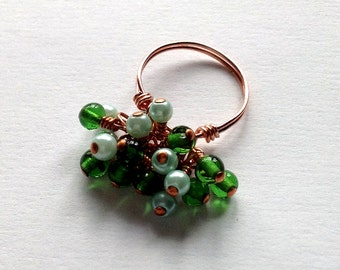 Cluster Ring in Copper and Green