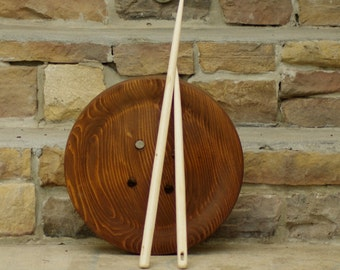 "Giant Wooden Needle - 22"" Inch Wooden Needle - Rustic Wooden Home Decor"