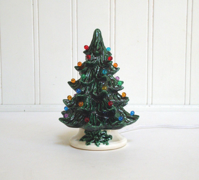 VINTAGE CERAMIC CHRISTMAS Tree Pottery Light Up Electric
