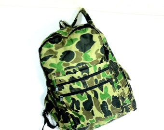 Camo Army Green Backpack - Large Camouflage Backpack - Large Hunting Cargo Rucksack