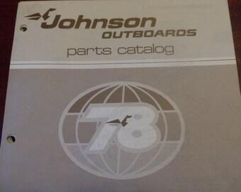 1978 Johnson Outboard Motors Parts Catalog