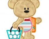 Beach Bears applique tshirt or onesie personalized free