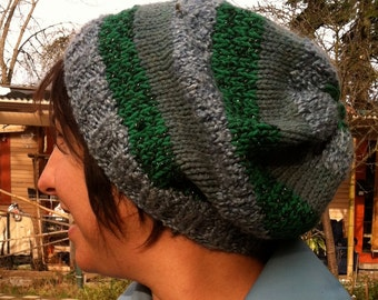 Custom Striped Cozy Hat festival, beanie, slouchy hat, striped hat, winter hat, dread hat