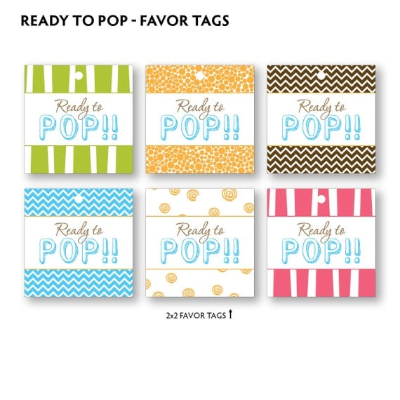 Items similar to diy printable ready to pop baby shower for Ready to pop stickers template