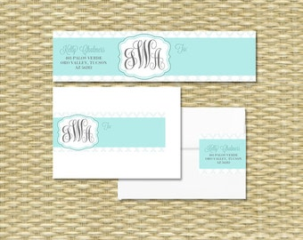 DIY Printable Wrap Address Labels - Monograms and Memories - Any Color Scheme