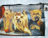 YORKSHIRE TERRIER -- Zippered Pouch with beautiful, full color artwork on both sides