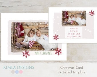 7x5 in Christmas Card Template, Christmas 2013
