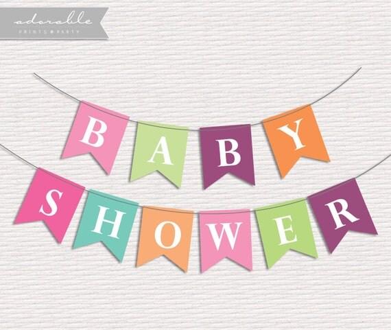 Items Similar To DIY Baby Shower Banner Printable Banner