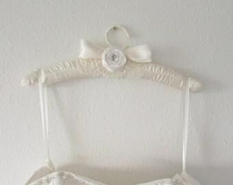 Victorian Bridal Padded Wedding Dress Hanger ....  Lace Hanger