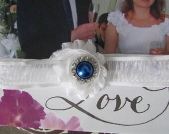 White sheer Wedding Garter - Toss Garter White Stretch sheer