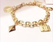 OFFER Charm Bracelet Gold chunky chain