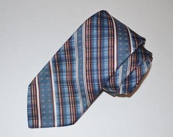 Blue Necktie, Sears Blue Vintage Tie, Men's Striped Tie, Perma-Prest Fashion Collection, Vintage Neckwear, Striped Necktie, Men's Tie, SALE!