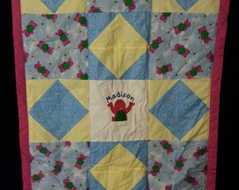 Barney Baby/Toddler Quilt