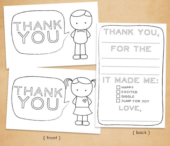 Versatile image inside free printable thank you cards for students