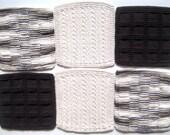 Soft Natural Dish Cloths Hand Knit Warm Naturals Shades of Brown & Natural Ecru